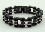 black biker chain bracelet