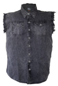 acid washed cutoff shirt