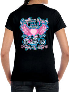 Ladies 2017 bike week shirt
