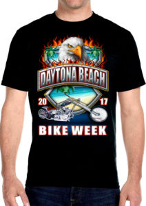Mens 2017 bike week tee