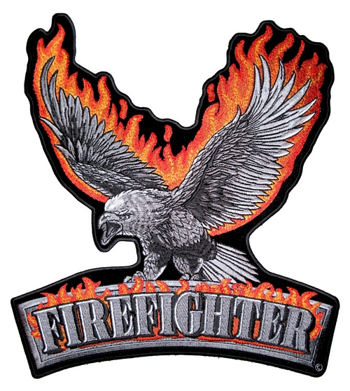 firefighter flaming eagle patch