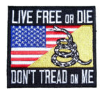 american gadsden snake flag patch