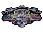 American flag sniper skull military patch