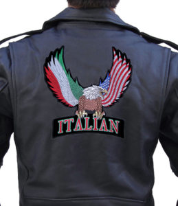american eagle and italian flag patch