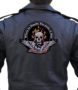 flaming skull and wings patch
