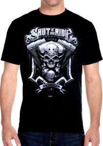 skul shut up and ride tee shirt