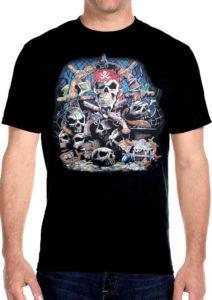 pirate dead mans skull t shirt