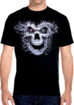 cyborg terminator skull biker t-shirt