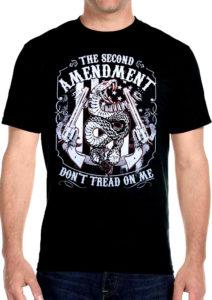 2nd amendment don't tread on me biker t-shirt