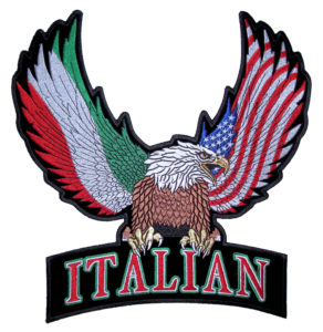 Patriotic Eagle with American and Italian Wings