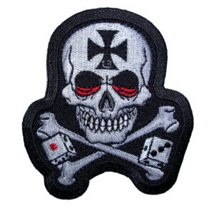 skull with crossbones and dice patch