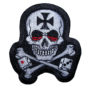 skull with Maltese cross patch