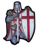 Christian crusader knight patch