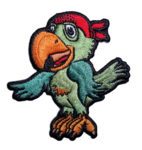 pirate parrot patch with bandanna