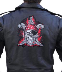 Pirate swords biker patch
