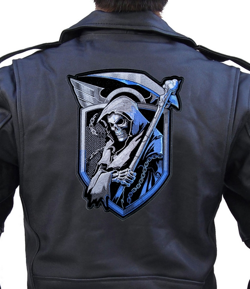 Angel of Death Grim Reaper Blue Shield patch