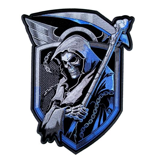 Grim reaper biker patch