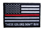 these colors don't run firefighter patch