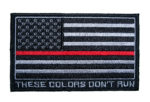 these colors don't run red thin line flag patch