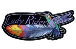 Hummingbird feather lady rider patch