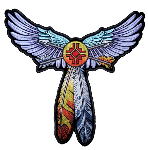 multi-color wings and arrows patch