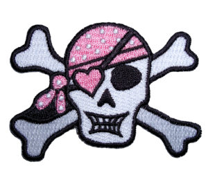 skull and crossed bones and bandanna patch