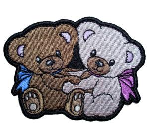 cuddling teddy bear patch