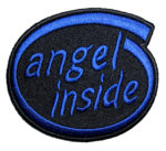 angel inside ladies biker patch