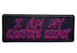 i am my sisters keeper ladies biker patch