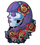 day of the dead sugar skull patch