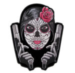 Sugar skull with two guns patch
