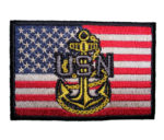 patriotic us navy anchor patch