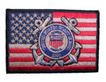 patriotic coast guard logo biker patch