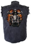 grim reaper denim sleeveless shirt