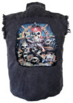 pirate and skulls denim shirt
