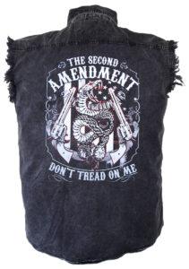 2nd amendment rattlesnake biker shirt
