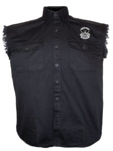 dead mans hand cutoff denim shirt