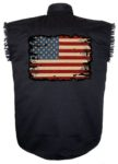 sleeveless american flag biker shirt