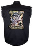 dead man skull sleeveless biker shirt