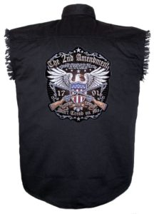 2nd amendment sleeveless biker shirt