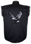 bald eagle sleeveless biker shirt