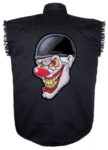 evil clown sleeveless biker shirt