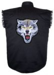 mean wolf sleeveless biker shirt