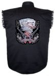 aces and eights cowboy sleeveless biker shirt