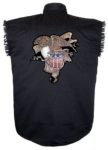 est 1776 bald eagle sleeveless biker shirt