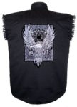 silver eagle sleeveless biker shirt