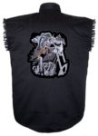 grim reaper sleeveless biker shirt
