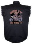 ride like you stole it sleeveless biker shirt