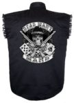 dead mans hand black twill sleeveless shirt