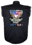 these colors dont run army sleeveless biker shirt